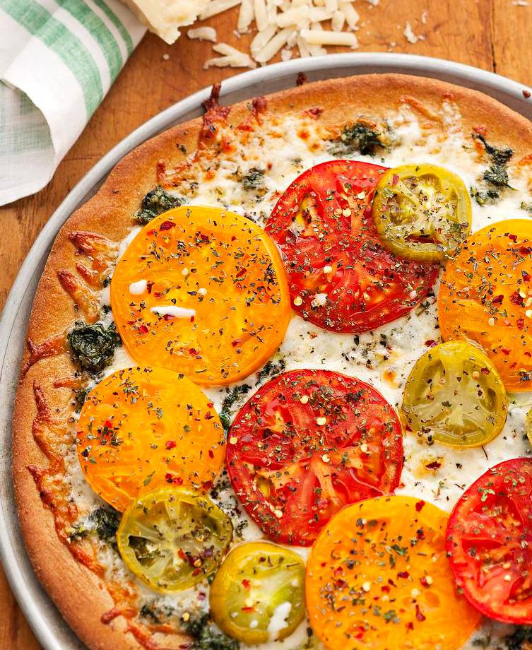 Suncrest Gardens Farm's Pesto Pizza