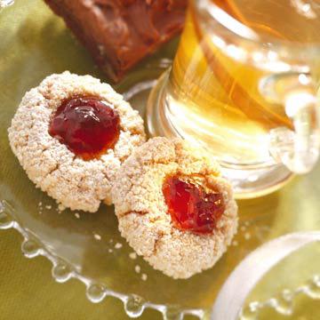 Almond-Raspberry Kisses