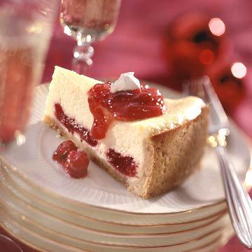 Scarlet Swirl Cheesecake