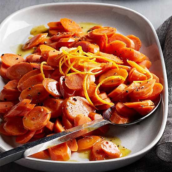 Lazy-Braised, Maple- Glazed Carrots