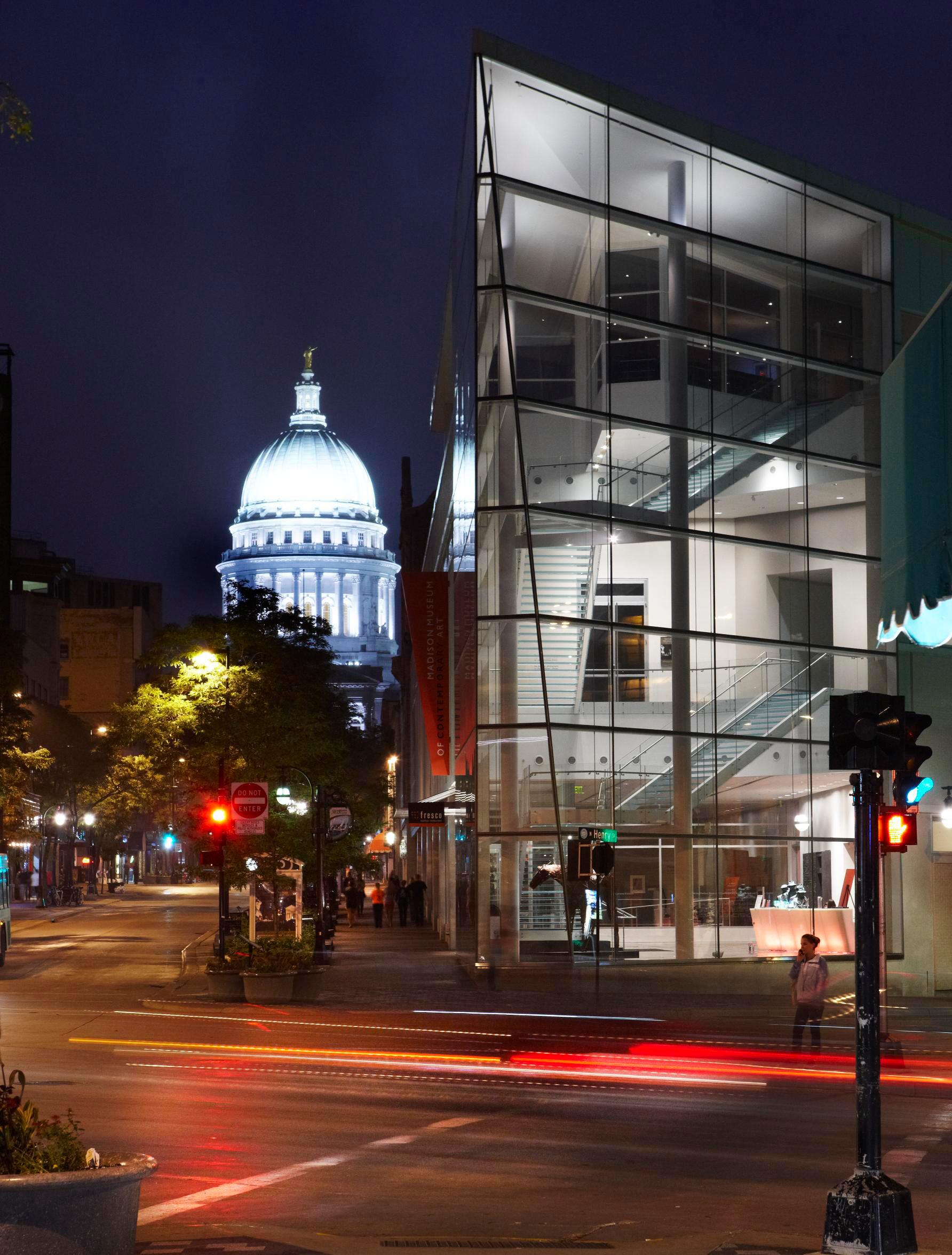 Madison, Wisconsin: 147 miles northwest of Chicago