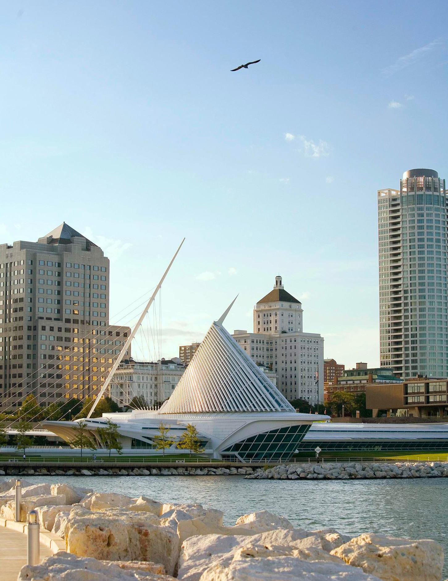 Milwaukee: 93 miles north of Chicago