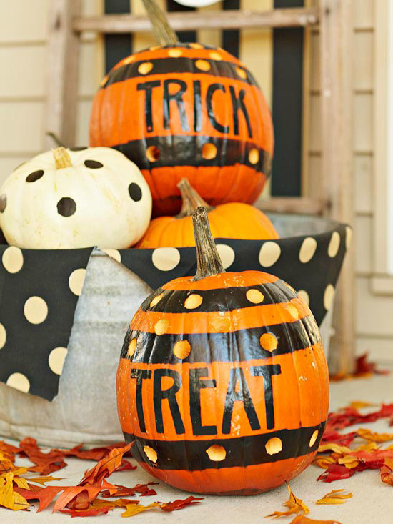 Spooky style pumpkins