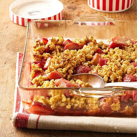 Strawberry-Rhubarb Crisp