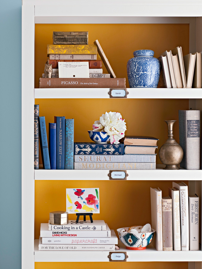 Personalized shelves
