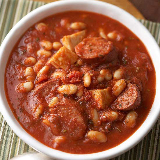 Slow-Cooker Chicken Cassoulet-Style Soup