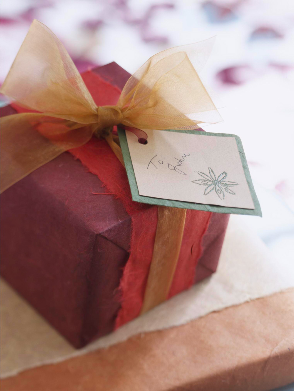 Spice stamp gift wrap