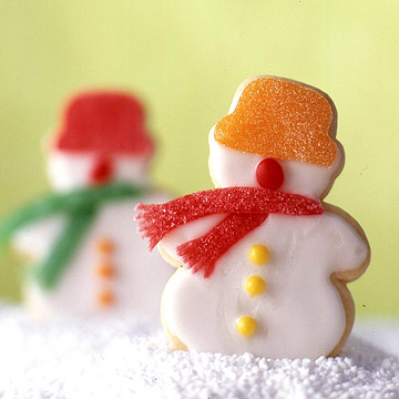 Snowmen Shortbread Cookies