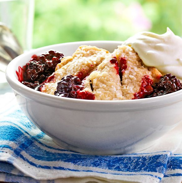 Ozark Blackberry Cobbler