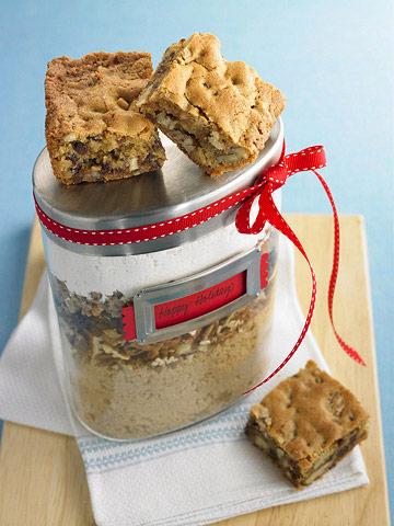 Toffee Blondies In A Jar