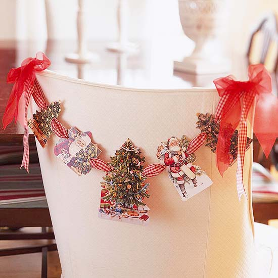 Card chair garland
