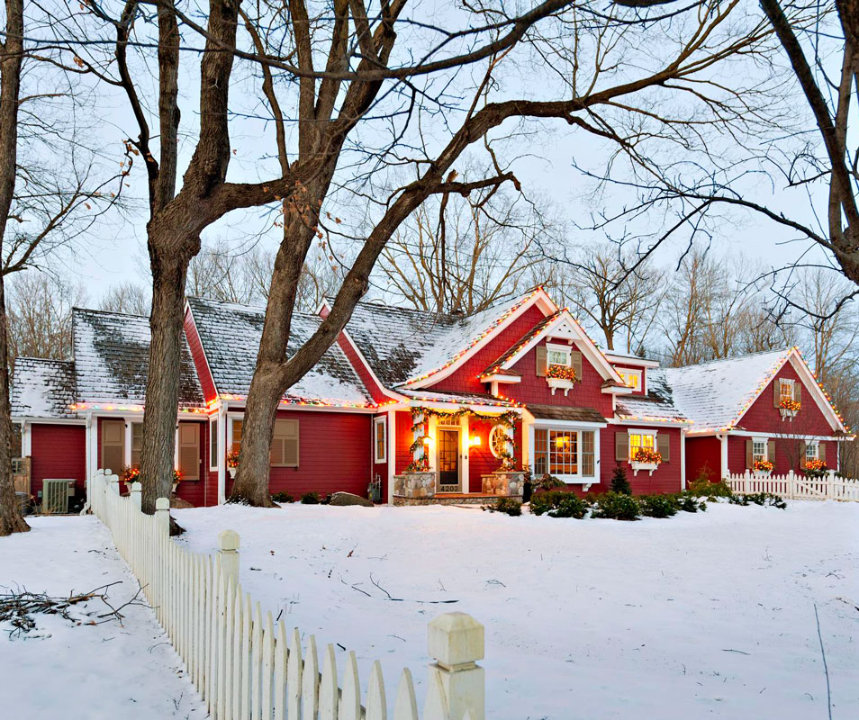 Cheerful red exterior