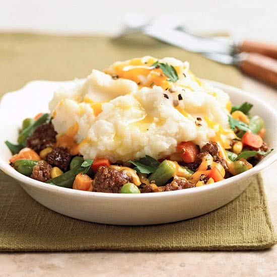 Potato-Topped Beef Bowl