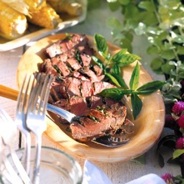 Basil-Stuffed Steak