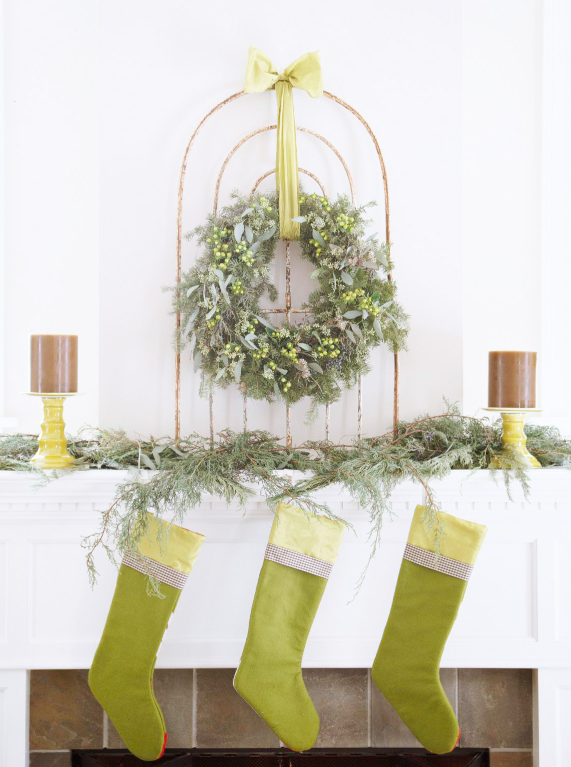 Striking wreath display