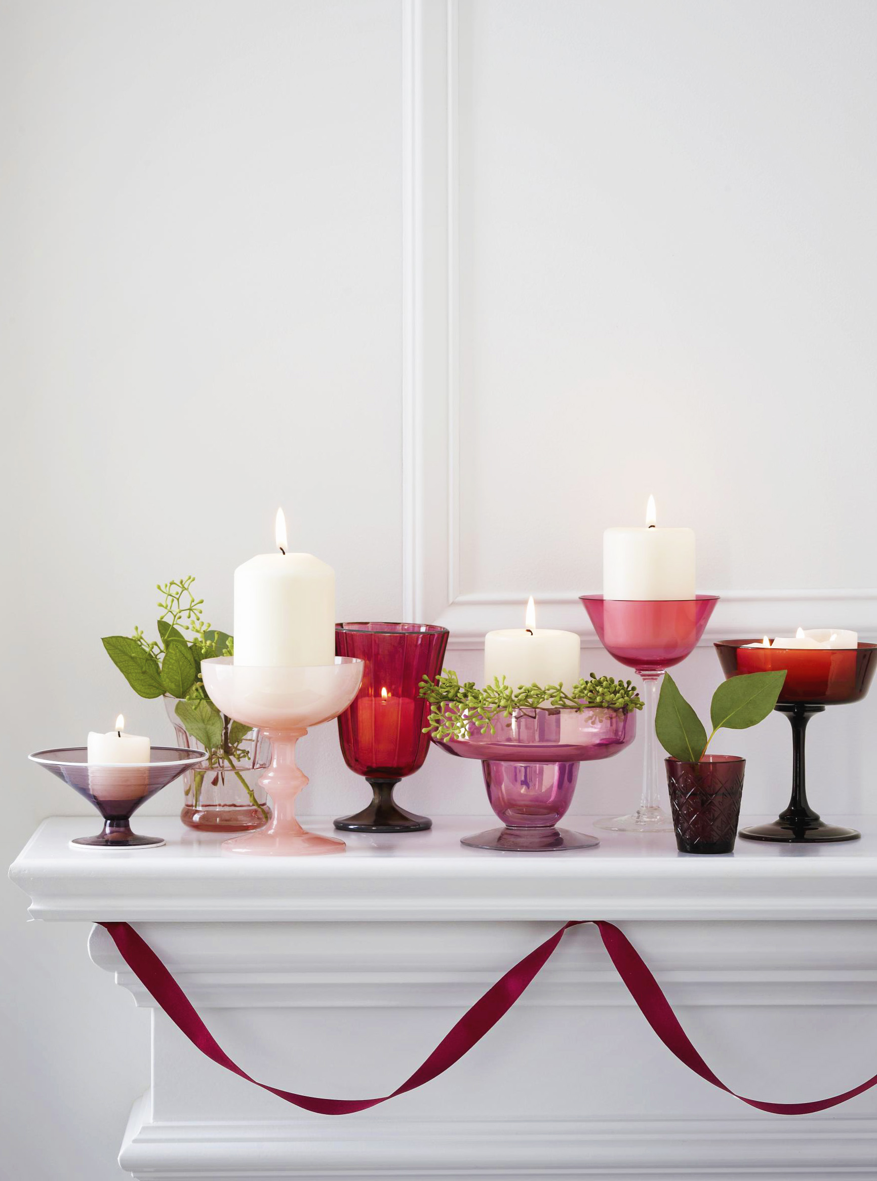 Candles and glass