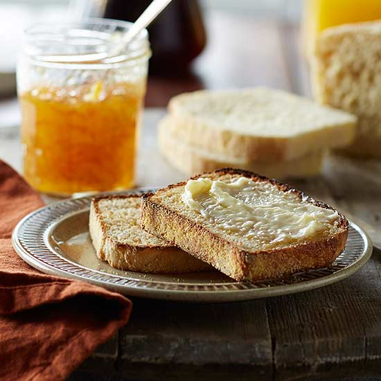 English Muffins In a Loaf with Honey Butter