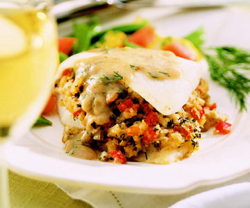Crabmeat-Stuffed Door County Whitefish recipe