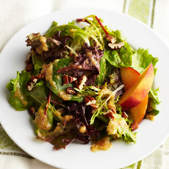 Peach Pecan Vinaigrette with Spring Green Salad