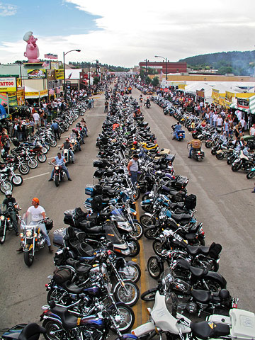 Things to Do in South Dakota's Black Hills and Badlands--Sturgis Motorcycle Rally