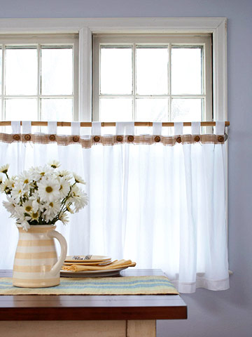 Cafe curtains let the light shine