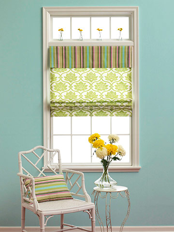 Stylish statement for a single window