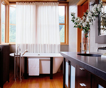 Best of both worlds for a bathroom window
