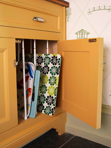 Curtains to cabinets