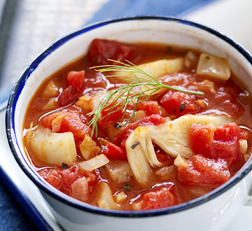 Red Tomato-Garlic Soup
