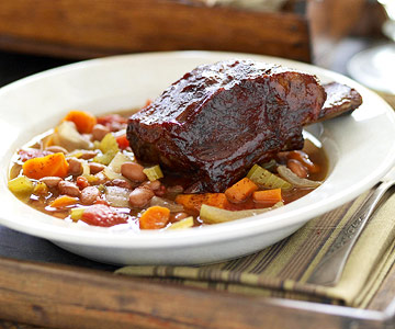 Nebraska: Prairie-Style Bean Soup with Beef Ribs