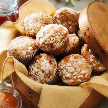 Honey-Rhubarb Muffins