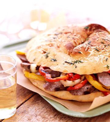 North Dakota: Venison Sausage Focaccia
