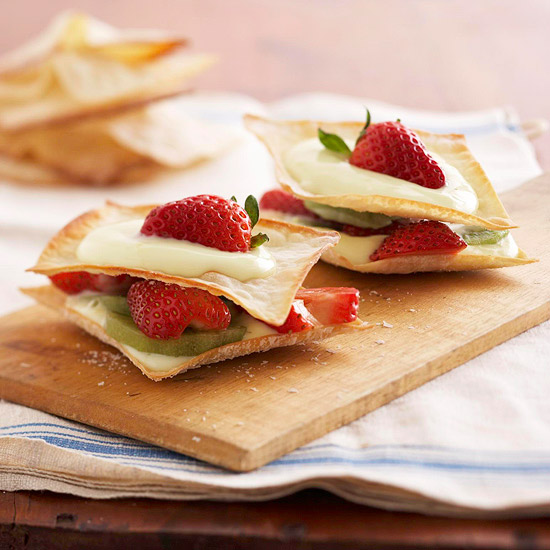 Quick and Easy Dessert Recipes—Wonton Dessert Stacks