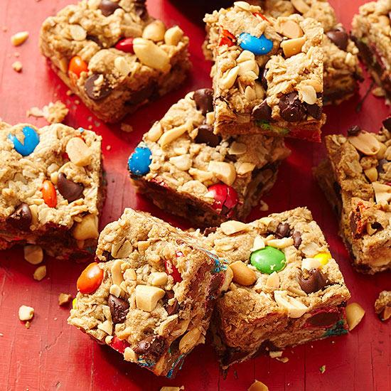 Easy Monster Cookie Bars
