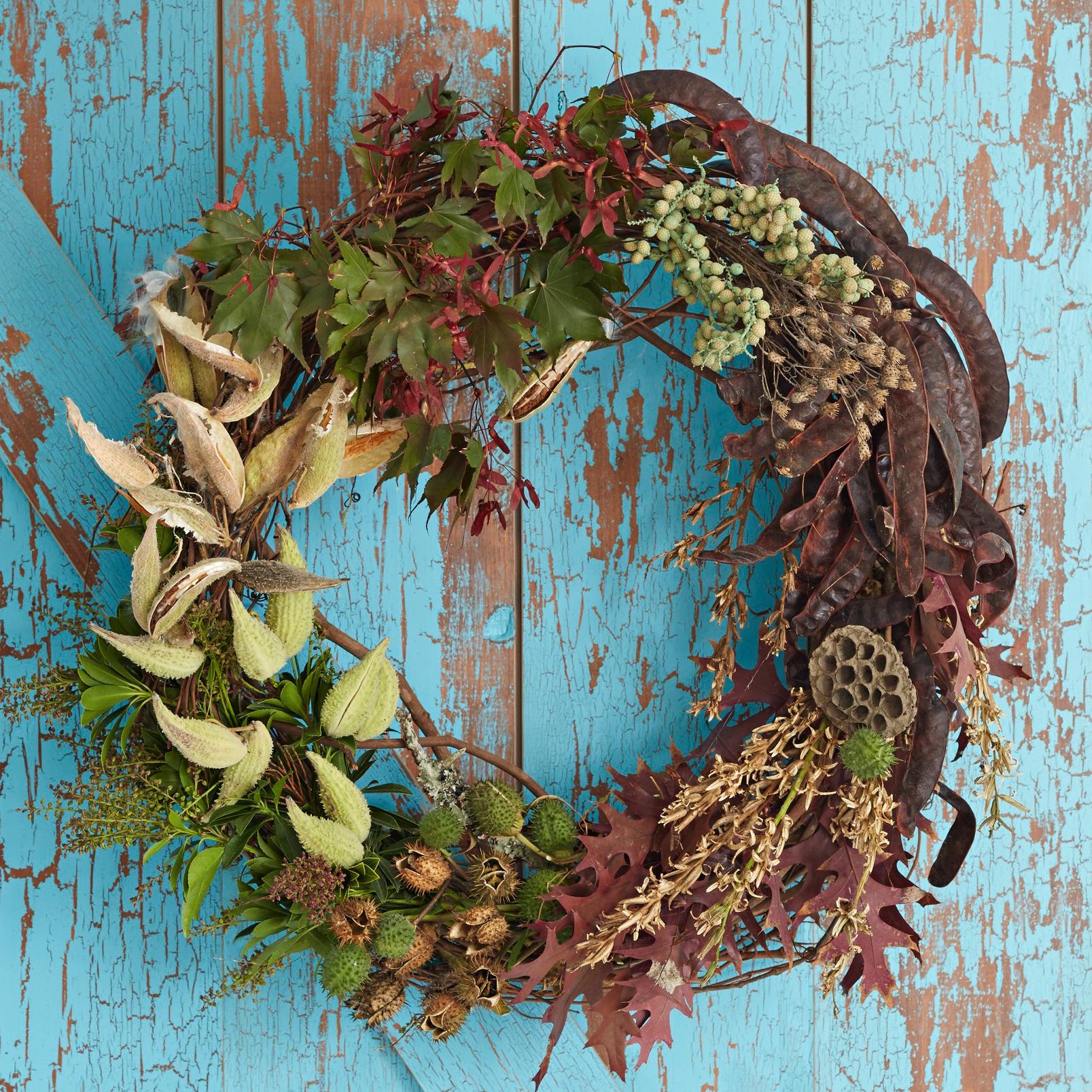 Seedpod wreath