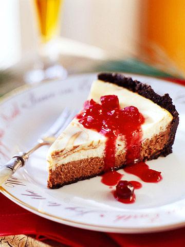 Cranberry-Chocolate Cheesecake