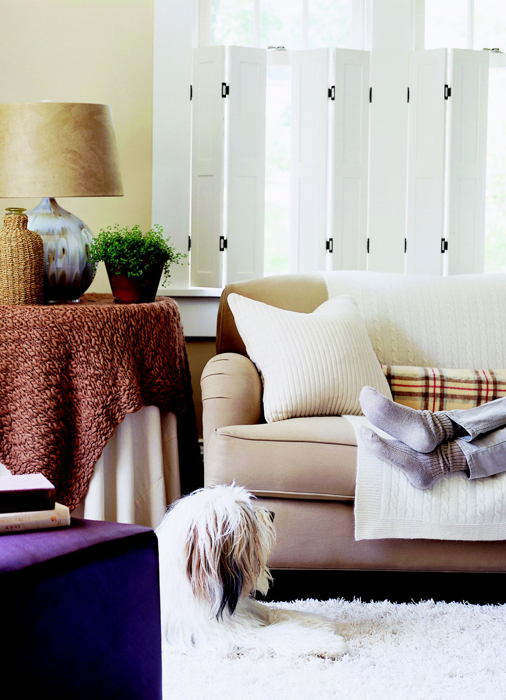 Fluffy, furry, woolly decor