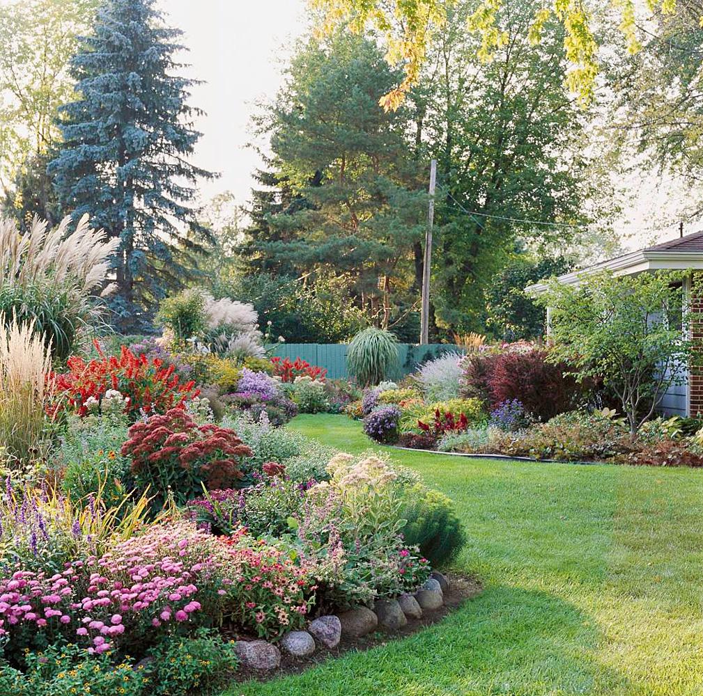 An exuberant fall garden