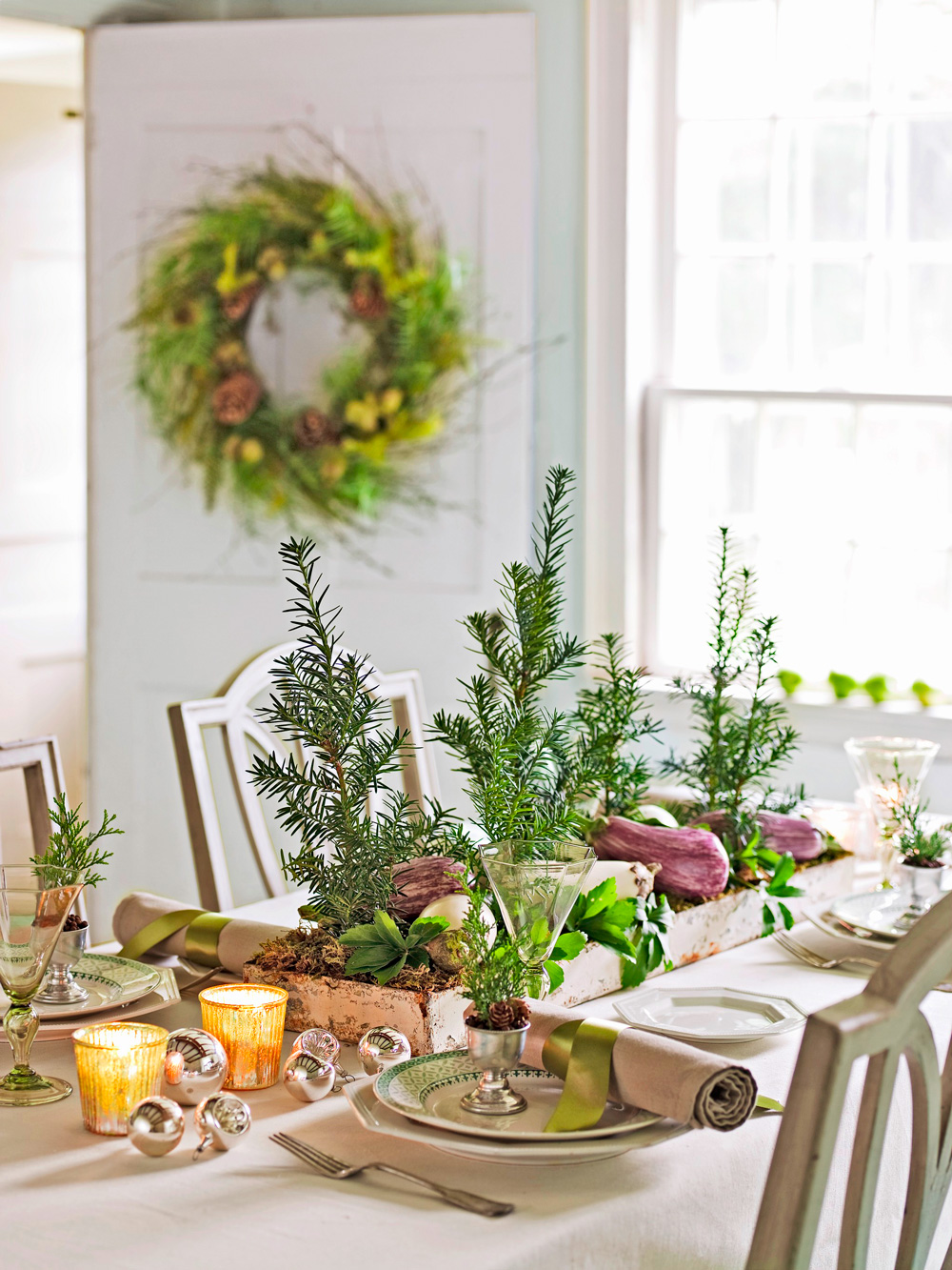 Mini tree table centerpiece