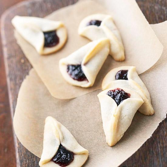 Lemon Blueberry Fan Cookies