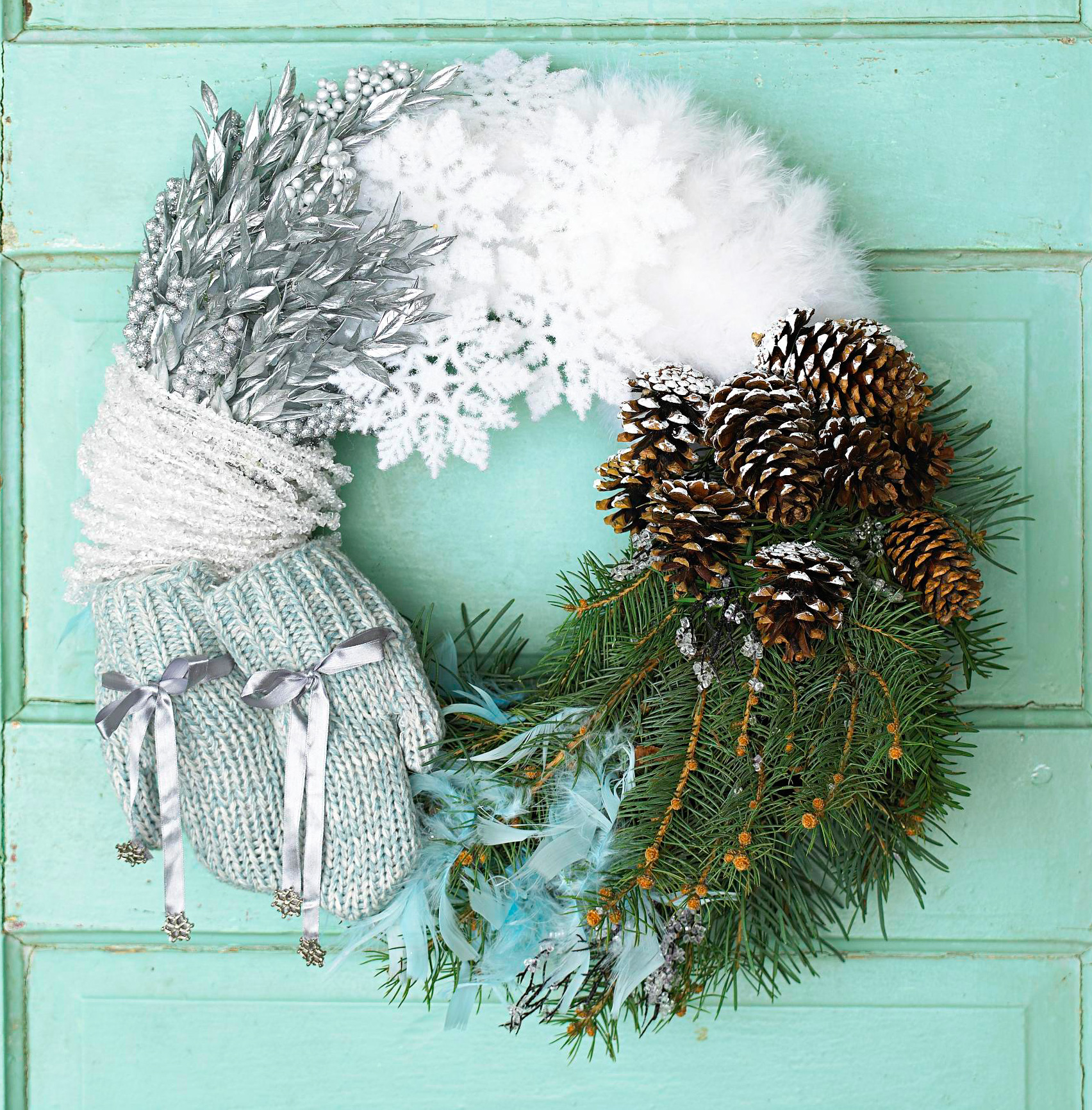 Winter colors wreath
