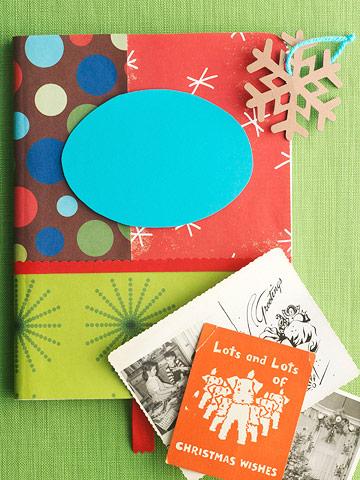 Keep a holiday scrapbook