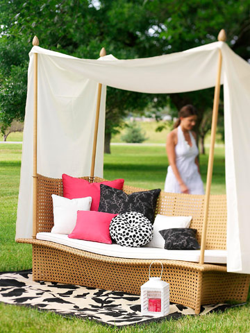 Pick outdoor fabrics with indoor style