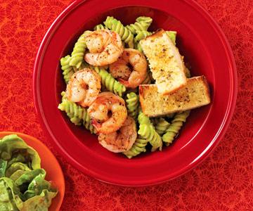 #1: Shrimp and pasta dinner
