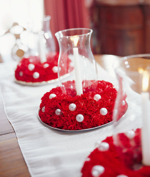 Carnation candle holders