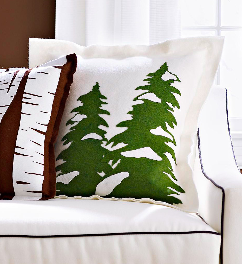 Evergreen trees pillow