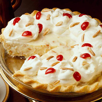 Fancy Almond Cream Pie