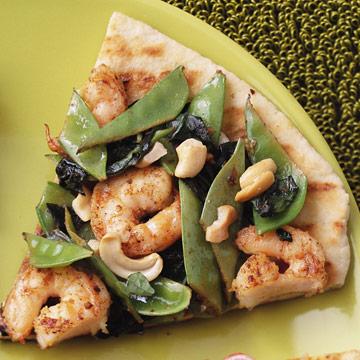 Shrimp Stir-Fry Grilled Pizza