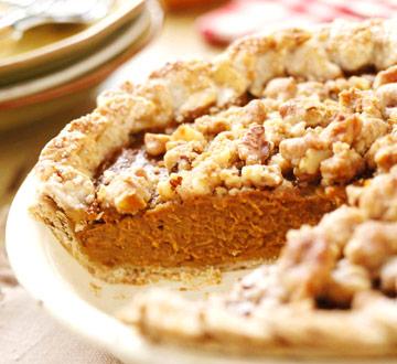 Apple Butter-Pumpkin Pie