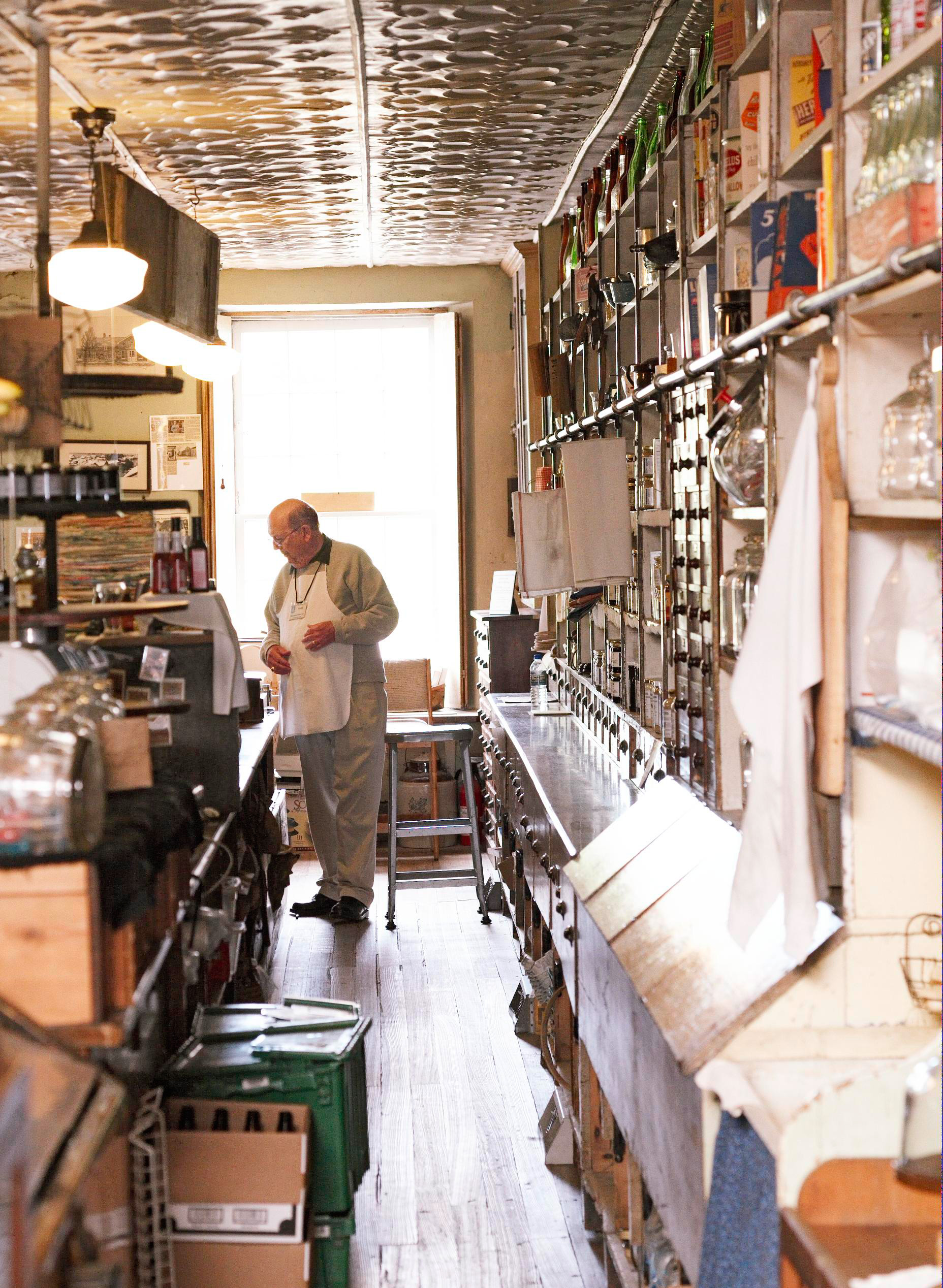 The High Amana General Store sports the original tin ceiling and sells old-fashioned toys and soaps (amanaheritage.org).